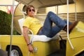 Brad Pitt in a still from Once Upon a Time in Hollywood, directed by Quentin Tarantino. Leonardo DiCaprio co-stars.