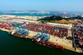 A container port in Qingdao in Shandong province in 2018. Photo: Xinhua