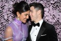 Actress Priyanka Chopra (left) with her husband, musician Nick Jonas, at last week's Chopard Love Night event at the Cannes Film Festival, in Cannes, France. Photo: Getty Images for Chopard