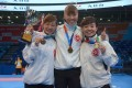The Hong Kong woman's senior Team Kata (L to R): Jenny To, Karman Ma and Wu Lok-man. Wu, 27, says Hong Kong athletes would benefit from a better understanding of sports psychology. Photo: Handout