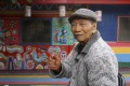 97-year-old Huang Yung-fu is the creator of the Rainbow Village in Taichung, Taiwan. Photo: Rachel Chung