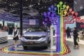 Dongfeng Motor Group's AX7 plug-in hybrid electric vehicle (PHEV) stands on display at the Auto Shanghai 2019 show in Shanghai on Wednesday, April 17, 2019. Photo: Bloomberg