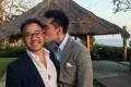 Li Huanwu (R) with his boyfriend Heng Yirui. Photo: Facebook