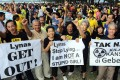 Malaysians protest against an Australian rare earth plant run by Lynas. Photo: AFP