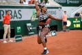 Serena Williams during her women's singles third round match with Sofia Kenin at the French Open on Saturday. Photo: AFP