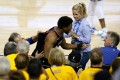Kyle Lowry getting shoved and verbally assaulted by billionaire idiot Mark Stevens is by far the first time the NBA has had egg on its face when it comes to fan interactions. Photo: AFP