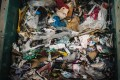 Garbage sits at the Syctom sorting centre in Paris, France, awaiting sorting before it can be recycled. With global annual waste likely to rise from the current 2.01 billion tonnes a year to around 3.4 billion tonnes a year in 2050, there is an urgent need to reduce waste at source. Photo: AFP