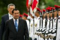 Cambodia's Prime Minister Hun Sen with Singapore's Prime Minister Lee Hsien Loong in a 2010 file picture. Photo: Reuters