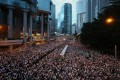 Sunday's march was the biggest seen in Hong Kong for decades. Photo: Sam Tsang