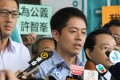 Lawmaker Ted Hui faces the media after being sentenced at Eastern Court. Photo: K.Y. Cheng