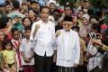 Indonesia's incumbent President Joko Widodo and his running mate Ma'ruf Amin won a second term. Photo: EPA-EFE
