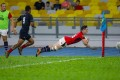 Paul Altier dives in for a try against Malaysia.