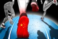 China's biggest sports shoe producers are buying up global brands. Illustration: SCMP