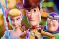 Bo, Woody and Buzz in a still from Toy Story 4. Photo: Disney/Pixar