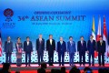 Asean leaders pose for a group photo during the opening ceremony of the Asean Summit. Photo: Xinhua