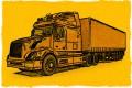 A semitrailer truck.