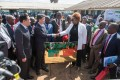 Dora Siliya, Zambia's minister of information, shakes hands with Zhang Maoyu, vice-chairman of China International Development Cooperation Agency, during the completion ceremony of a China-funded TV project in Chongwe. Photo: Xinhua