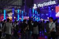 Visitors gather near the Sony PlayStation exhibition booth during the Tokyo Game Show 2018. Photo: EPA-EFE