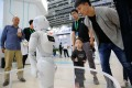 Visitors interact with a robot at the International Digital Economy Expo 2018 in Shijiazhuang, capital of north China's Hebei Province, Sept. 20, 2018. Photo: Xinhua
