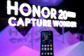 Huawei's Honor 20 smartphone is seen at a product launch event in London, May 21, 2019. Photo: Reuters