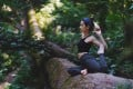 A woman does yoga during the Ayus Wellness Experience, in Gunung Mulu National Park, a Unesco World Heritage Site in Malaysian Borneo. Photo: Ayus Wellness