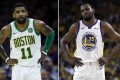 Kyrie Irving and Kevin Durant appear set to play together for the Brooklyn Nets when Durant recovers. Photo: AP