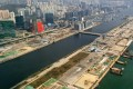 An aerial drone view of the former Kai Tak airport runway site. If the government sticks to its land tender schedule, the five parcels scheduled for the 2019 financial year would be offered in the six-month period from October. Photo: Martin Chan