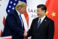US President Donald Trump and Chinese President Xi Jinping greet each other on Saturday on the sidelines of the G20 summit in Osaka, Japan. Photo: AFP