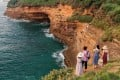 Tourists admire cliffs near Zhongmu village, Weizhou Island, China. The volcanic island offers a variety of historical, natural and geological sights. Nearby Beihai, a former treaty port, also has its charms. Photo: Martin Williams