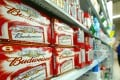 The IPO will give Budweiser Asia a market capitalisation of up to US$63.7 billion. Photo: AFP