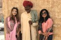 Nadine Gregory (left) and Angelique Manchanda-Peres (seen here with a man wearing typical Rajasthani clothing) set up women-only tours in India. Photo: courtesy of Tours n Detours