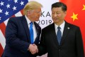 US President Donald Trump and China's President Xi Jinping shake hands ahead of their bilateral meeting during the G20 leaders summit in Osaka, Japan, on Saturday. Photo: Reuters