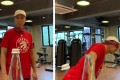 Donnie Yen takes up the 'Bottle Cap Challenge' – but wearing a blindfold. Photos: Instagram