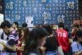 Visitors at a book fair in Wan Chai. Photo: Winson Wong