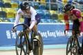 Jessica Lee and Sarah Lee compete at the Hong Kong Track Cycling Championships, at the Hong Kong Velodrome, Tseung Kwan O. Photo: Dickson Lee