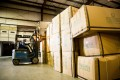 Chinese-made furniture arrives at a warehouse in the US, where orders from retailers have shrank amid the tariff trade war. Photo: Politico