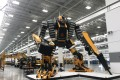 The Transformer-like 'Traxx', which has been adapted from an excavator, at Sany America's headquarters in Peachtree City, Georgia. Sany said Traxx is displayed during big conferences and events. Photo: Yujing Liu