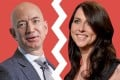 The divorce between Amazon CEO Jeff Bezos (left) and MacKenzie Bezos was confirmed by a United States court last Friday. Photo: Getty/Invision/AP/Business Insider