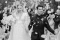 Sophie Turner and Joe Jonas in a celebratory mood after their wedding in Carpentras, France.
