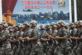 PLA soldiers on parade at a Hong Kong barracks open day on July 1. Photo: EPA-EFE