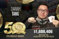 Hong Kong's Danny Tang won more than US$1 million and collected his first World Series of Poker bracelet. Photo: World Series of Poker