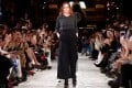 British designer Stella McCartney appears at the end of her autumn/winter 2019-2020 women's ready-to-wear collection show during Paris Fashion Week on March 4, 2019. Photo: Reuters