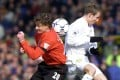 Manchester United's Ole Gunnar Solskjaer goes head-to-head with Leeds United again in Perth. Photo: AP