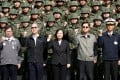 Taiwan's President Tsai Ing-wen (centre) and Defence Minister Yen Teh-fa (second right). Photo: Reuters