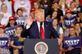 US President Donald Trump speaks at a campaign rally in Greenville, North Carolina, on Wednesday. Photo: Reuters