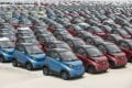 Electric vehicles in a car park of a manufacturing facility in China's Guangxi province. Aside from electric vehicles, NIO Capital also focuses on autonomous driving and connected-vehicle technologies, as well as advanced manufacturing. Photo: Bloomberg