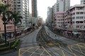 A main road in Yuen Long on Monday, when residents stayed away for fear of further violence. Photo: Sam Tsang