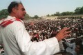 Rajiv Gandhi pictured during an election rally in May 1991 in Uttar Pradesh. File photo: AFP