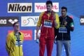Mack Horton refuses to stand on the podium with China's gold medallist Sun Yang at the 2019 Fina World Championships. Photo: AFP