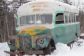 The Into the Wild bus, where Christopher McCandless died on his search for meaning in the wilderness. Photo: Jillian Rogers/Associated Press